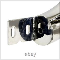 Chrome 3 Front Bumper Bull/Push Bar Brush Grille Guard for 05-15 Toyota Tacoma