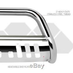 Chrome 3 Front Bumper Bull/Push Bar Brush Grille Guard for 11-16 Ford Explorer