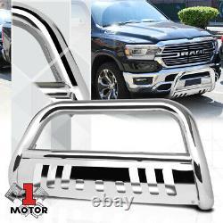 Chrome 3 Front Bumper Bull/Push Bar Brush Grille Guard for 2019 Ram 1500 Truck