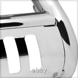 Chrome 3 Front Bumper Bull/Push Bar Brush Guard for 14-16 Silverado/Sierra 1500
