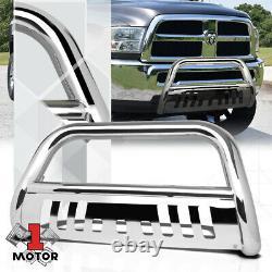 Chrome 3 Front Bumper Bull/Push Bar Grille Guard for 10-18 Dodge/Ram 2500/3500