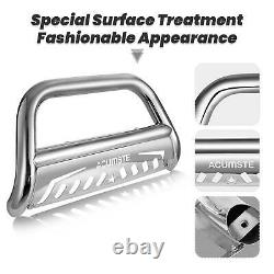 Chrome Bull Bar Brush Push Bumper Grill Guard For 99-07 Chevy Silverado/Sierra