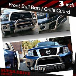 Chrome Bull Bar For 2009-2015 HONDA PILOT Brush Push Front Bumper Grille Guards