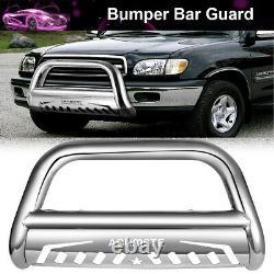 Chrome Bull Bar Push Bumper Grille Grill Guard For 2016 2018 Toyota Tacoma