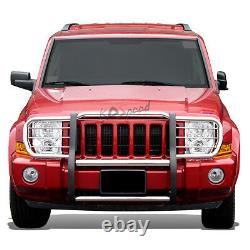 Chrome Front Bumper Push Bar Brush Grille Grill Guard for 06-10 Jeep Commander