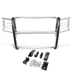Chrome Front Bumper Push Bar Brush Grille Guard for 14-18 Chevy Silverado 1500