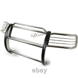Chrome Front Bumper Push Bar Brush Grille Guard for 84-01 Jeep Cherokee XJ SUV