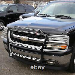 Chrome Front Bumper Push Bar Brush Grille Guard for 99-06 Chevy Silverado Tahoe
