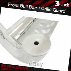 Chrome Push Bumper Bull Bar for 94-01 DODGE RAM 1500 / 94-02 DODGE RAM 2500 3500