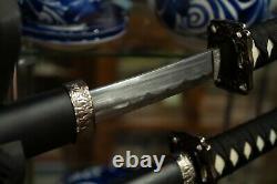 Classic Dragon Samurai Sword Japan Katana Ninja Sect Carbon Steel Two Swords