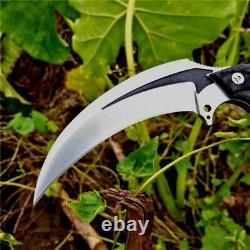 Claw Knife Karambit Hunting Tactical Combat Wild DC53 Steel G10 Handle Premium S