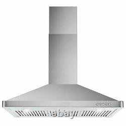 Cosmo COS-63190 36 Inch Wall Mount Range Hood with Push Control, Stainless Steel