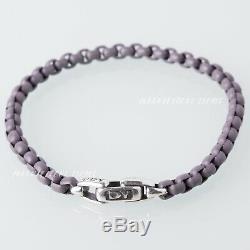 David Yurman Silver & Stainless Steel Box Chain 5mm Bracelet in Grey