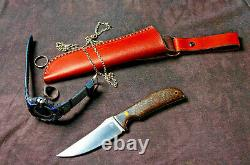 Dedyukhin Fixed Blade Hunting knife Mini NAVAJA M390 Handmade in Bark River St
