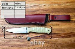 Dedyukhin Fixed Blade Hunting knife Severeg M390 Handmade in Bark River Style