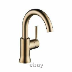 Delta 559HA-CZ-DST Trinsic Single Hole Bathroom Faucet with Push Pop-Up Drain As