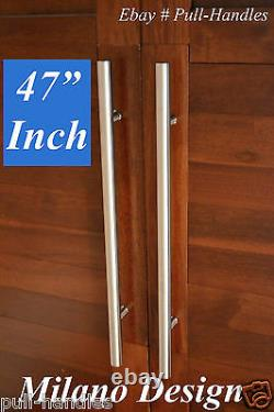 Door Pull Handle entry Push handles Back to Back brushed satin nickel
