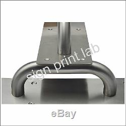 Door Push Pull Plate Handle Stainless Steel Satin Finish 300 x 100 x 1.5 mm