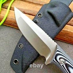 Drop Point Knife Fixed Blade Hunting Wild Tactical Combat DC53 Steel G10 Handle