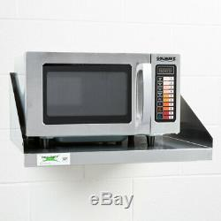 Durable Stainless Steel Commercial Microwave Oven Push Button Controls 1000W