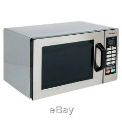 Durable Stainless Steel Commercial Microwave Oven Push Button Controls 1000W NEW