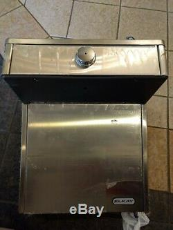 ELKAY Stainless Steel Wall Mount Water Drinking Fountain Push Button New