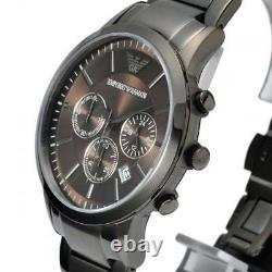 EMPORIO ARMANI Chronograph Grey Dial Two-tone Men's Watch AR2454