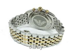 Emporio Armani Men's Two Tone Gold Chronograph Dial Watch Ar0396