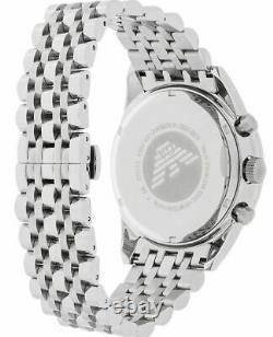 Emporio Armani Sportivo Silver Chronograph Black Quartz Silver Mens Watch AR5988