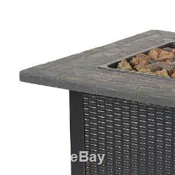 Endless Summer Decorative Push Button Outdoor LP Gas Fire Pit + Rocks GAD1401M