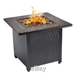 Endless Summer Decorative Push Button Start Outdoor LP Gas Fire Pit (Open Box)