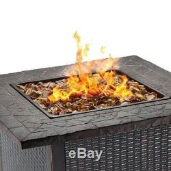 Endless Summer Decorative Push Button Start Outdoor LP Gas Fire Pit Table