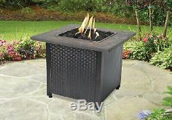 Endless Summer GAD1401M Decorative Push Button Outdoor LP Gas Fireplace, Brown