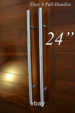 Entry Door Pull Push Handle 24 inch Modern 304 stainless steel