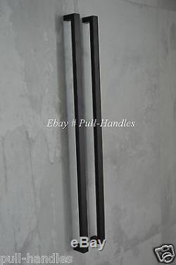 Entry Pull Handle Front Door Push Long Entrance Glass 304 Stainless Steel Black