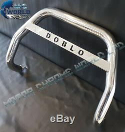 Fiat Doblo Chrome Nudge Push Logo A-bar Stainless Steel Bull Bar 2006-2010 Nxl1
