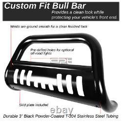 Fit 00-07 Toyota Tundra/Sequoia Matte Black 3 Bull Bar Push Bumper Grill Guard