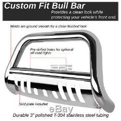 Fit 03-08 Honda Pilot/06-14 Ridgeline Chrome Bull Bar Push Bumper Grille Guard
