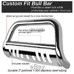 Fit 04-16 Ford F150 Non-Ecoboost/03+Expedition Chrome Bull Bar Push Bumper Guard