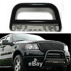 Fit 04-17 Ford F150 Black Stainless Skid Plate Front Push Bumper Bull Bar Guard