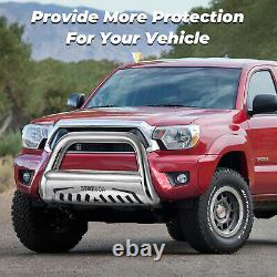 Fit 05-15 Toyota Tacoma Chrome S/S Bull Bar Brush Push Bumper Grill Grille Guard