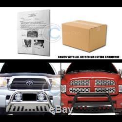 Fit 88-00 Chevy/GMC C10 C/K Truck Chrome Bull Bar Brush Push Bumper Grille Guard