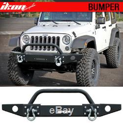 Fits 07-17 Jeep Wrangler Bull Bar Front Bumper Guard Brush Push Grille