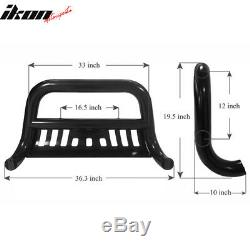 Fits 11-16 F250 F350 F450 Super Duty Black Bull Bar Front Bumper Grille Guard