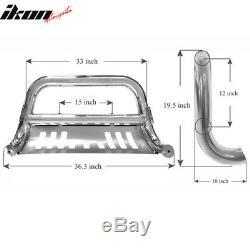 Fits 11-16 Ford Super Duty F250 F350 Bull Bar Ss Grill Guard Front Bumper