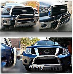 Fits 11-18 Chevy Silverado 2500/3500HD Bull Bar Plate Brush Push Grille Guards