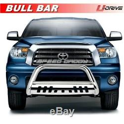 Fits 1999-2006 TOYOTA TUNDRA Stainless Bull Bar Plate Grille Guard Front Bumper