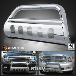 Fits 2007-2020 Toyota Tundra/Sequoia S/S Grille Guard Push Bull Bar Skid Plate