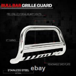Fits 2013-2016 Nissan Pathfinder Bull Bar Chrome Steel Grille Push Bumper Guard