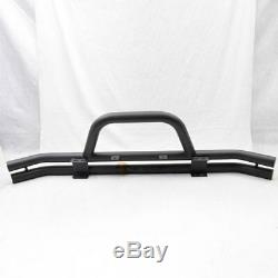 Fits 76-06 Wrangler Front Grille Guard Black Powder Coated Stainless Steel Guard